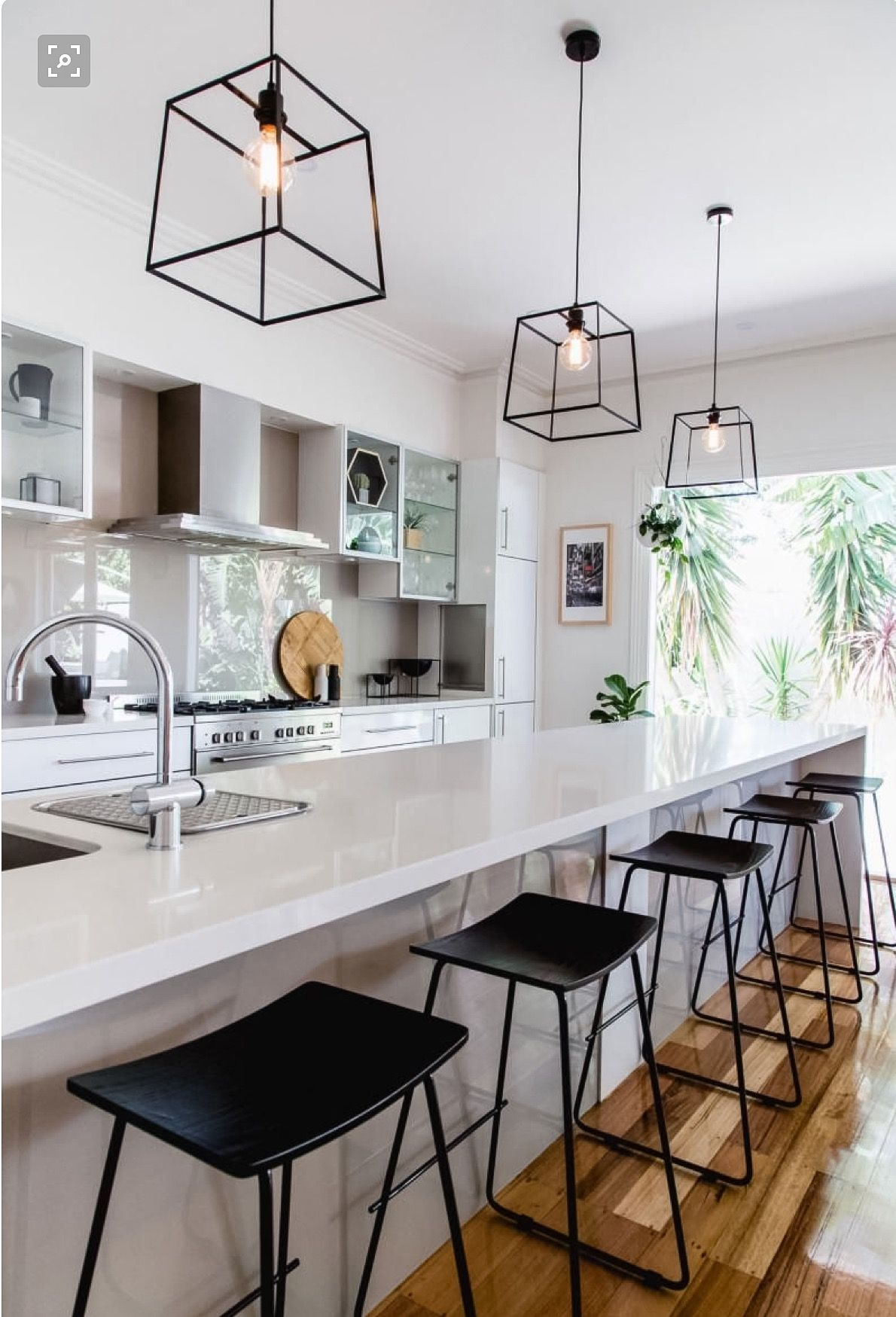 Long Island With Sink Modern Kitchen Design Eclectic Kitchen