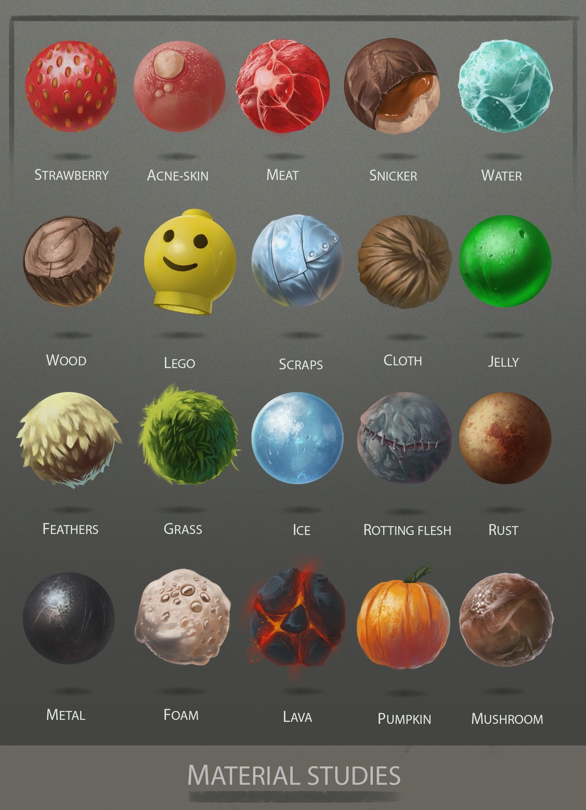 22+ Material study ideas