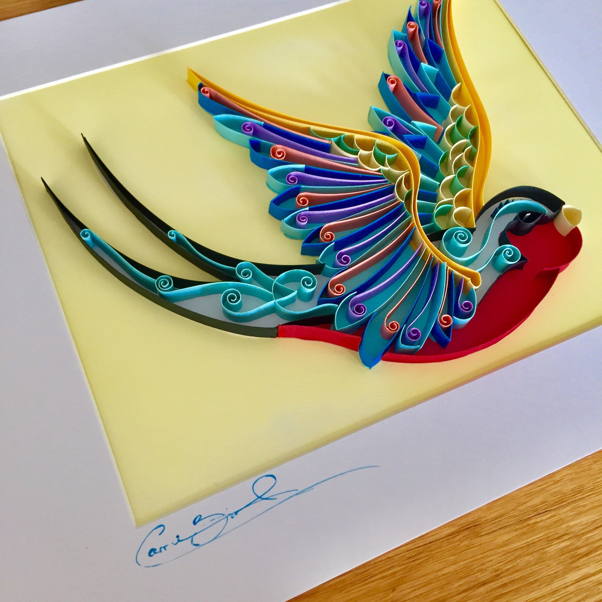 Unique Wall Art / Quilling Paper Artwork / Bird Art / Quilled ...