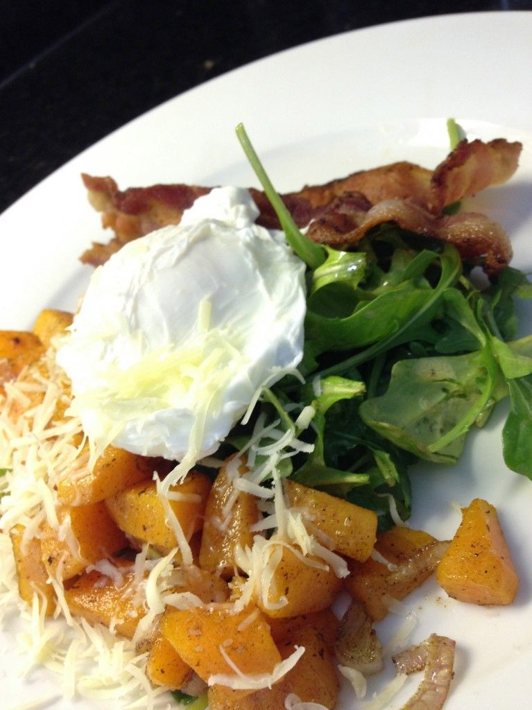 Sweet potatoes and eggs
