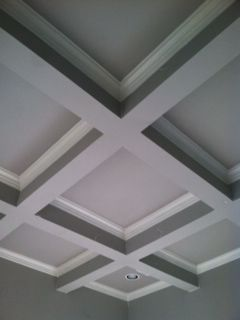Sadie Stella A Client S Office Space Home Ceiling Coffered