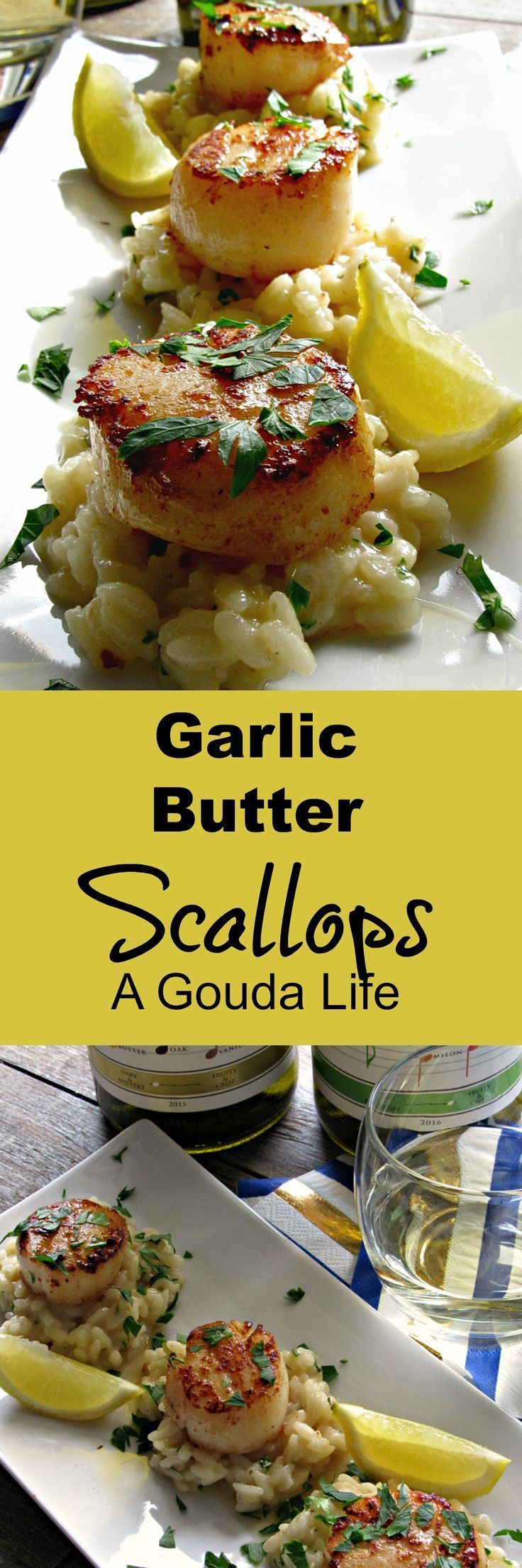 Photo of Lemon Garlic Butter Scallops ~ pan seared, 10 minutes ~ A Gouda Life