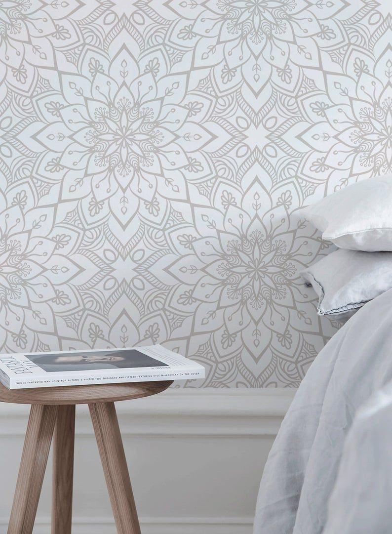Removable Wallpaper Peel And Stick Wallpaper Wall Paper Wall Etsy Removable Wallpaper Creative Wall Art Wallpaper