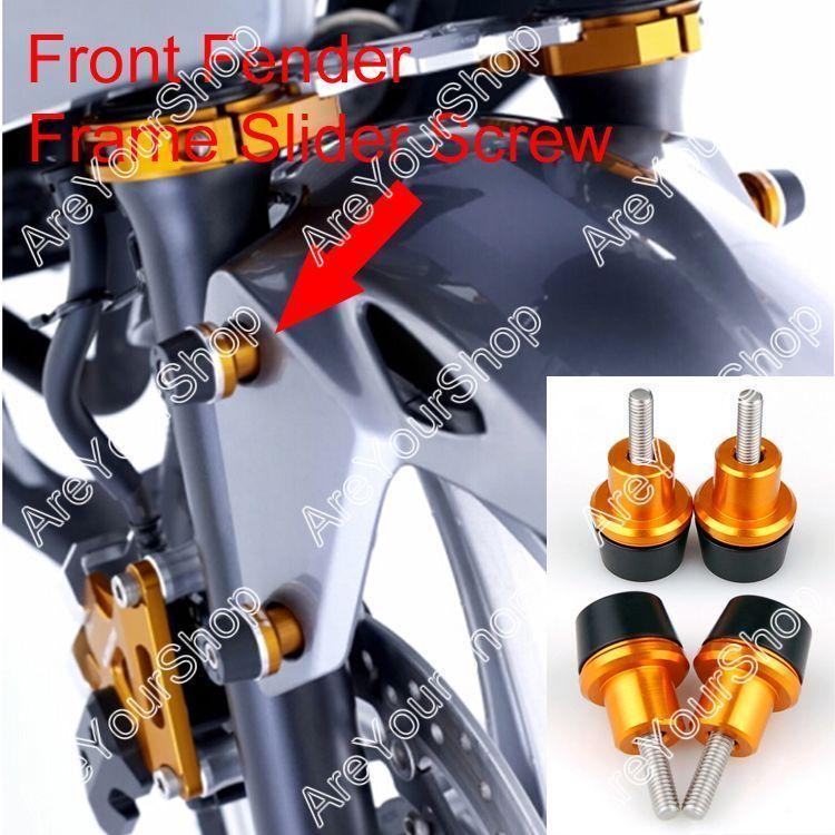 Front Fender Frame Slider Screw Bolt YAMAHA YZF R1 R6 FZ1 FJR XJR ...