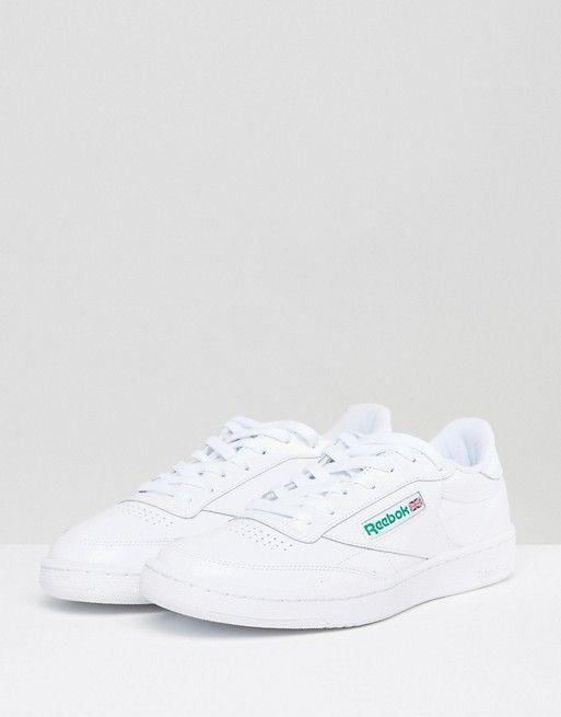 Reebok Club c 85 trainers in white ar0456  743981b00