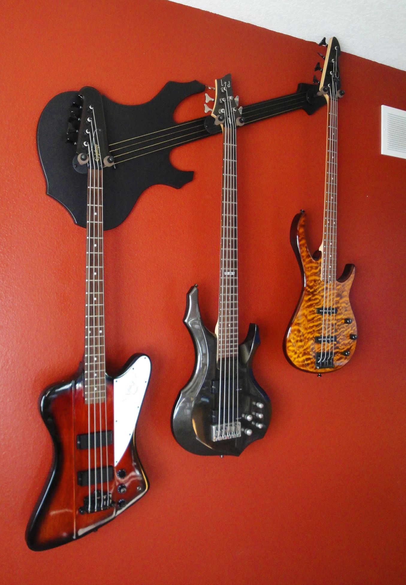 Wall Axe Custom Guitar Hangers Perchero De Guitarra Arte De Pared Diy Construcciones De Metal
