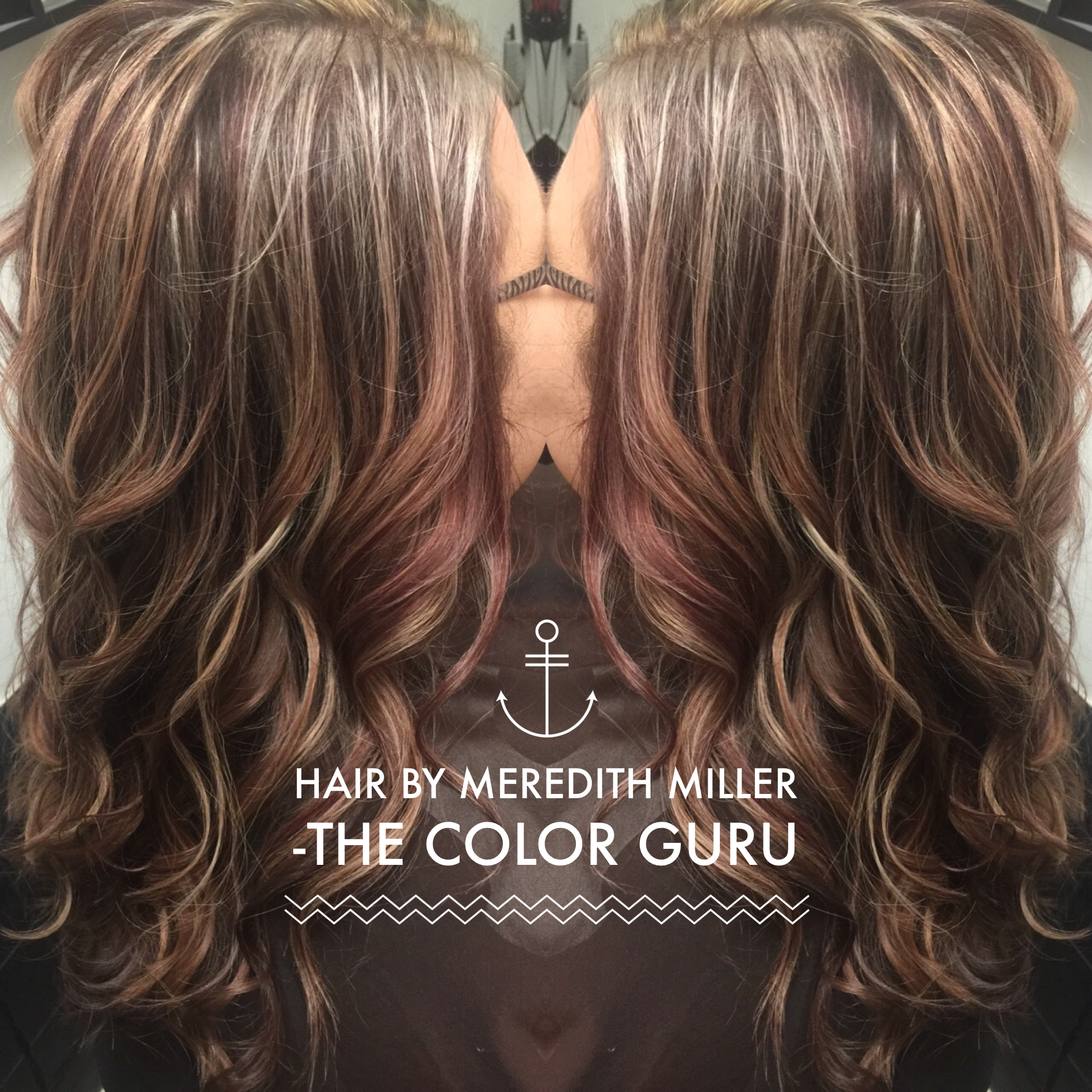 Blonde Highlights With Mocha Red Lowlights Done By Meredith Miller