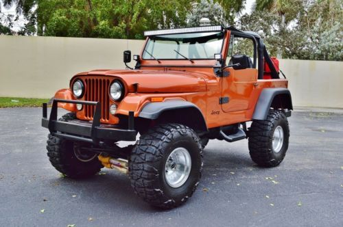Jeep Cj 7 Sport Quadra Trac Suv Lifted Skyjacker Custom W Nitto