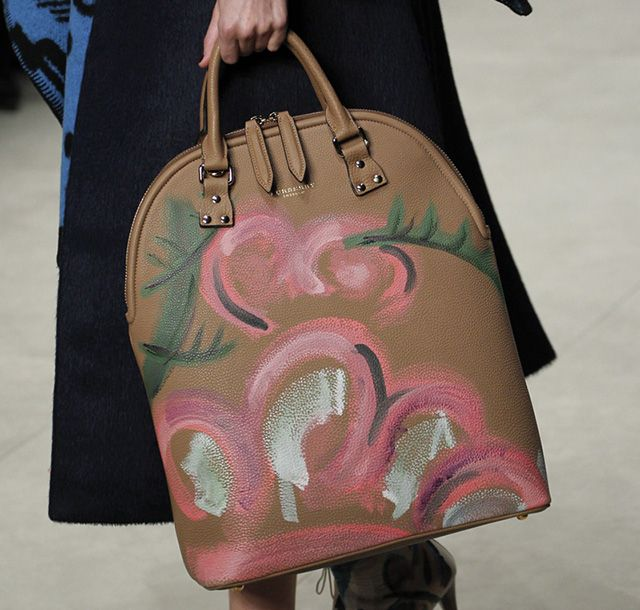 9574764dd276 Burberry Fall 2014 Runway Bags- this one is hand painted