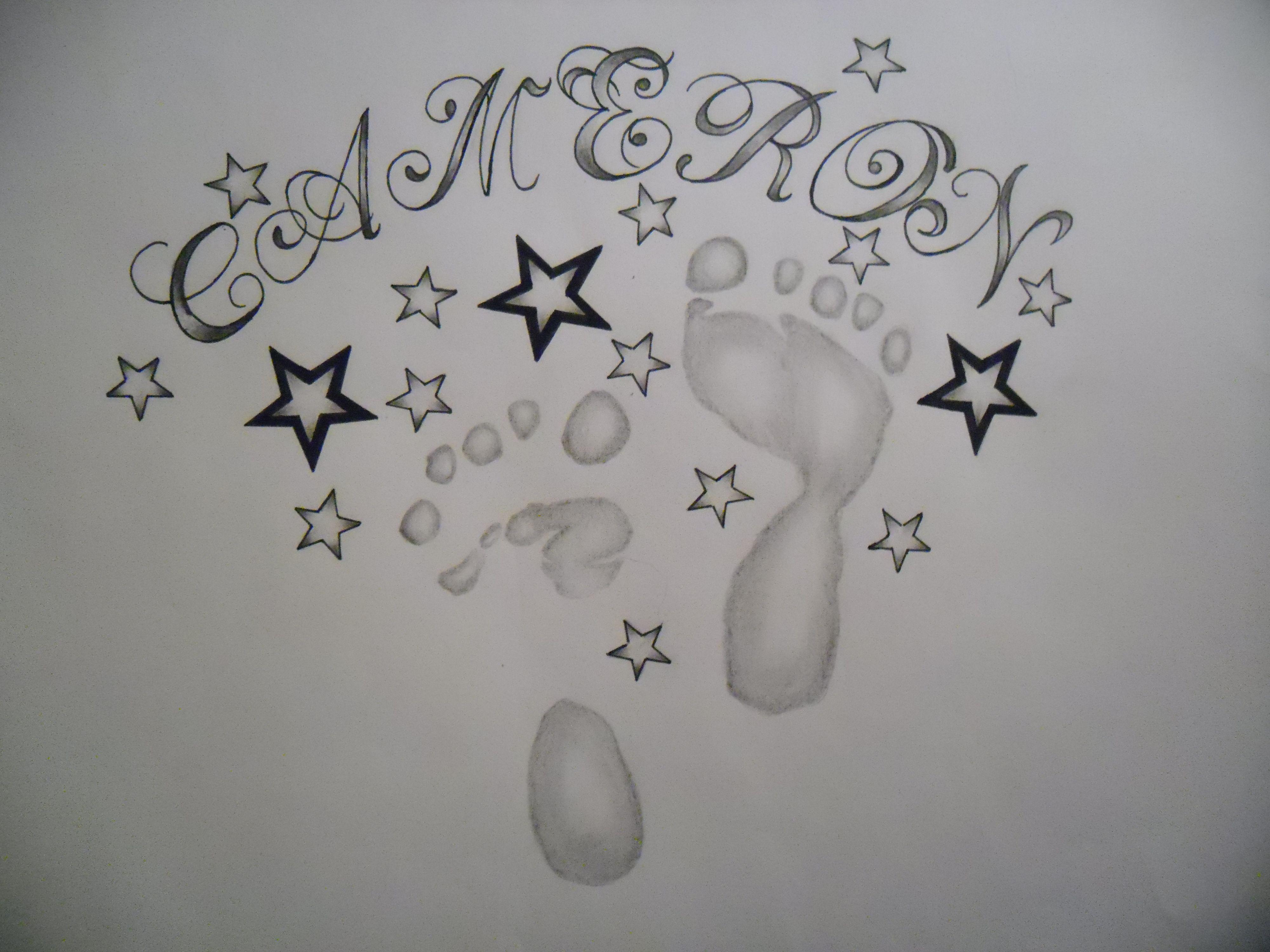 8364a46fb footprint star tattoo design by *tattoosuzette on deviantART | Art ...