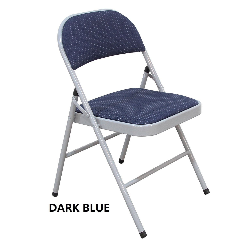 Adeco Tubular Steel Golden Grey Power Coated Folding Chairs