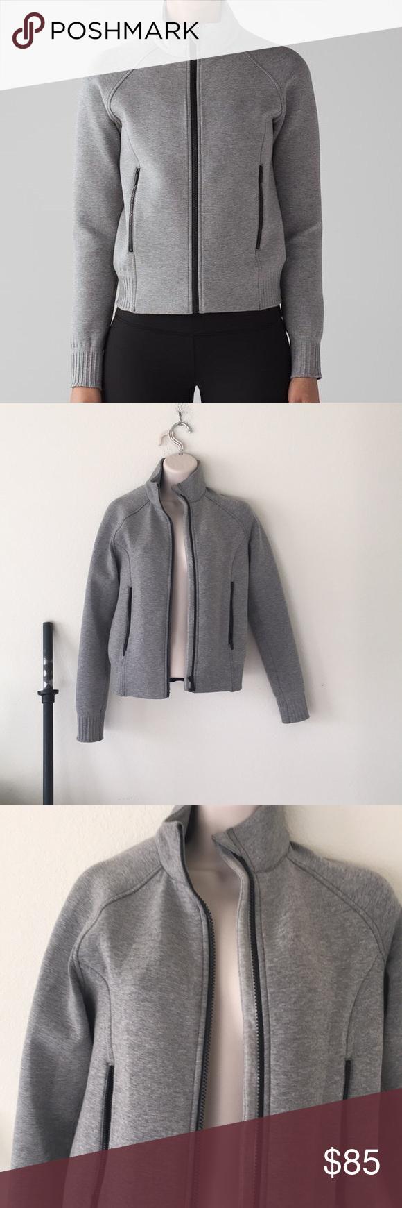 039f98f75 Lululemon gray bomber jacket nts jacket size 4 Great condition. Worn ...