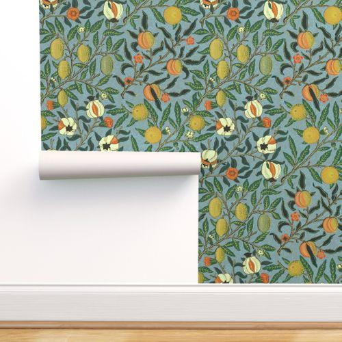 Fruit Or Pomegranate William Morris Victorian Wallpaper Wallpaper Peel And Stick Wallpaper
