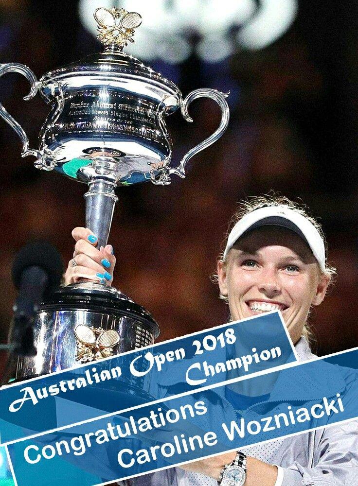 Congratulations to the CAROLINE WOZNIACKI. #Wozniacki #final #tennis #australianopen #50YearsOpen #protennis #love #like #ausopen #photooftheday #picoftheday #winner