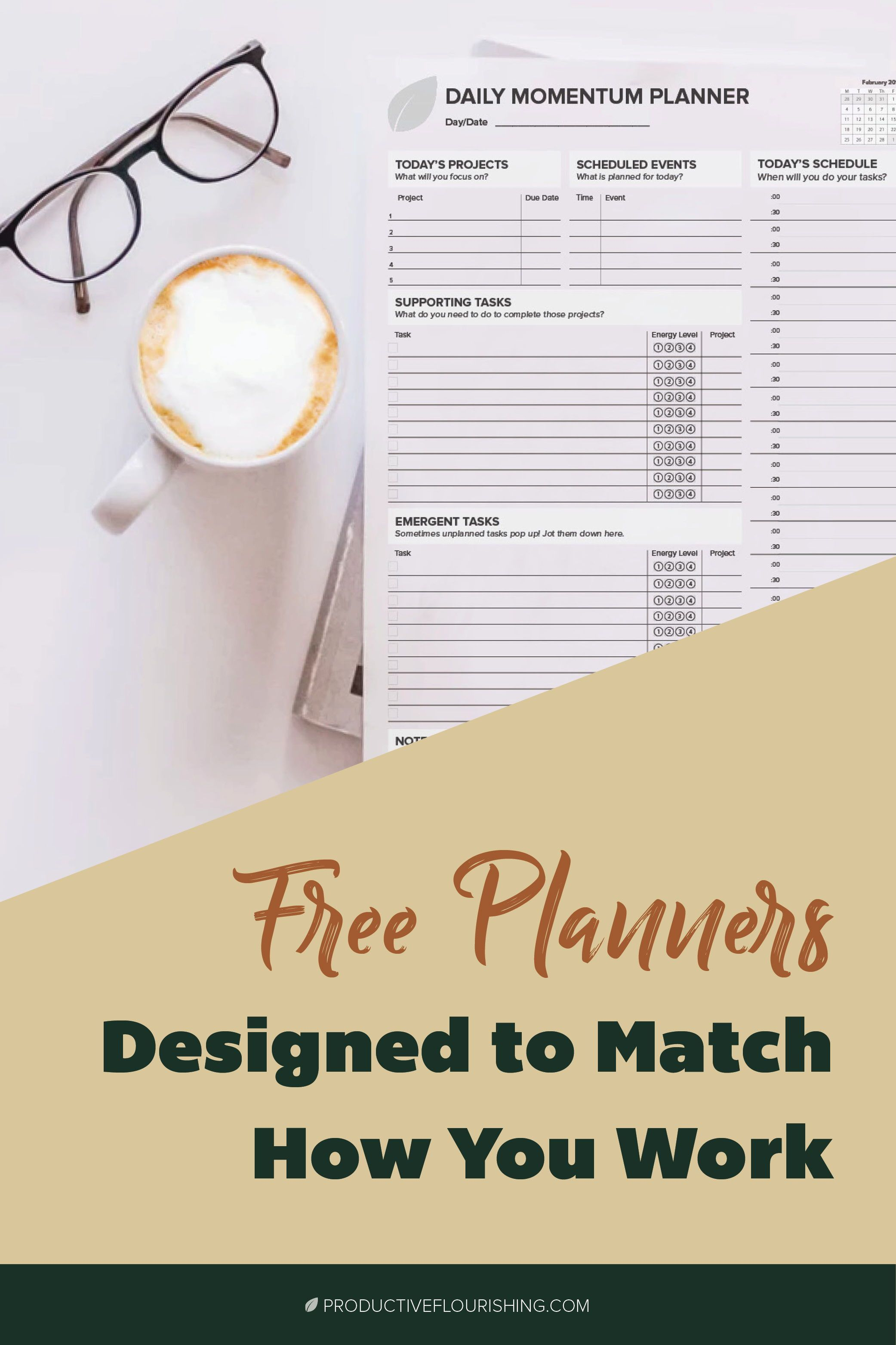 Free Planners Amp Productivity Worksheets In
