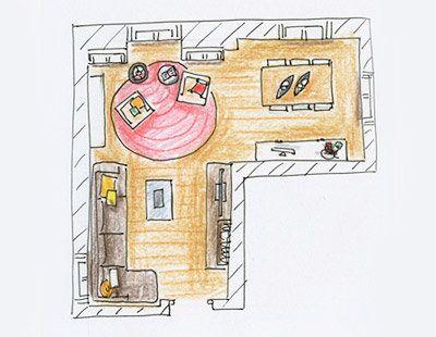 decorar salon-comedor en forma de l - Buscar con Google ...