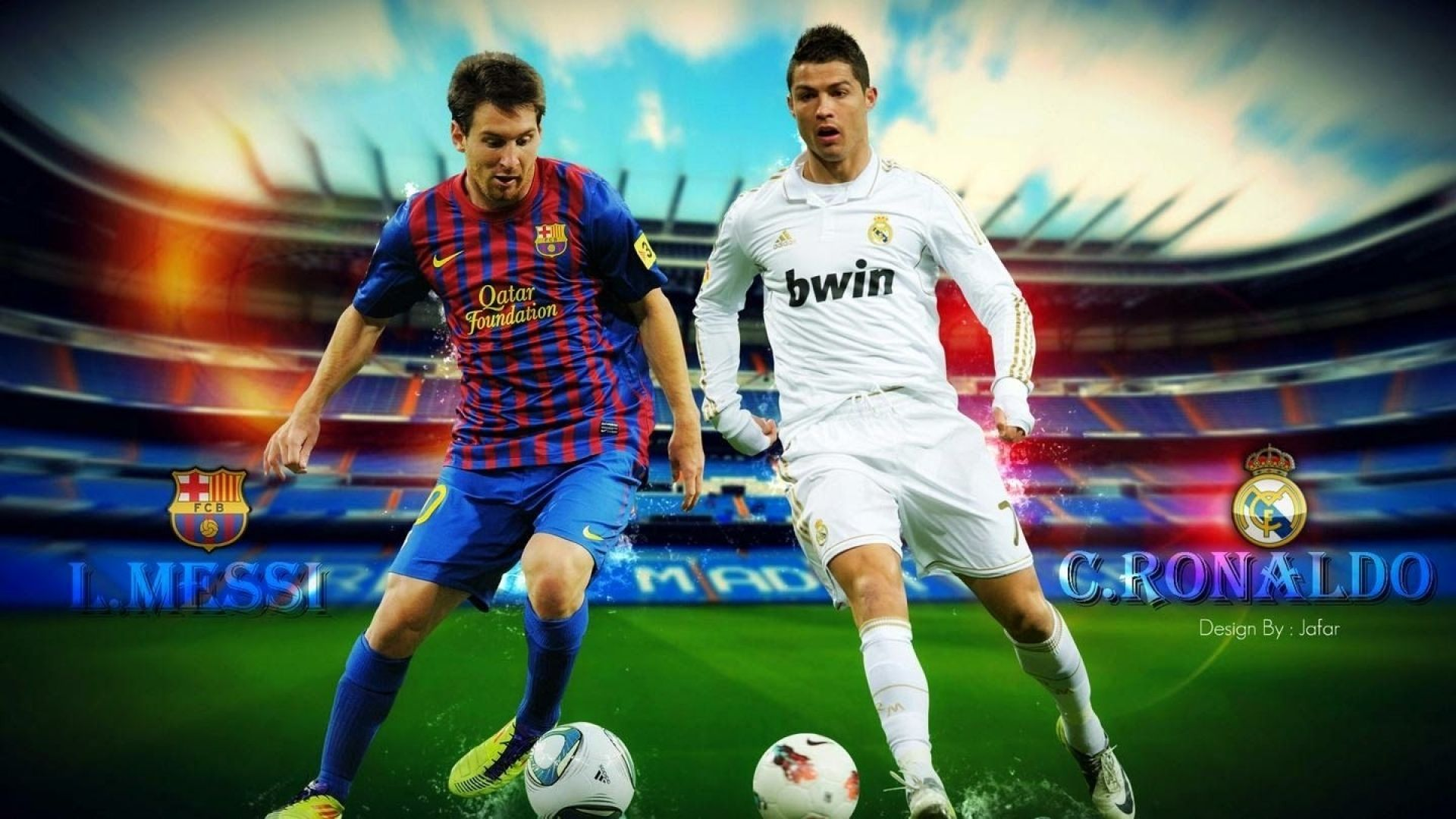 712a8c532 Messi and Ronaldo Wallpaper Download