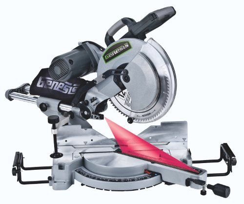 Genesis Gmsdb1512l 12 Inch Double Bevel Sliding Compound Miter Saw With Laser Guide Sliding Compound Miter Saw Compound Mitre Saw Miter Saw