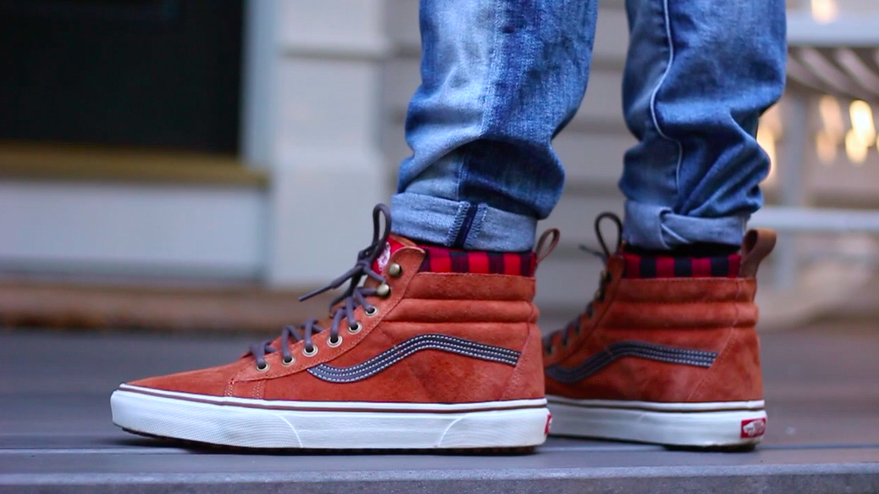 "a8078369f3 Vans Sk8-Hi MTE ""Glazed Ginger""   ""Pewter"" On Foot Review"