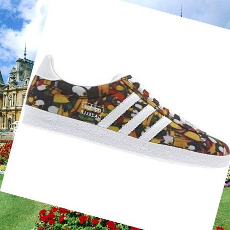 sports shoes 210af 829d4 Adidas Gazelle Og Womens Trainers Photo-Print WhiteMetallic-Silver,HOT  SALE!