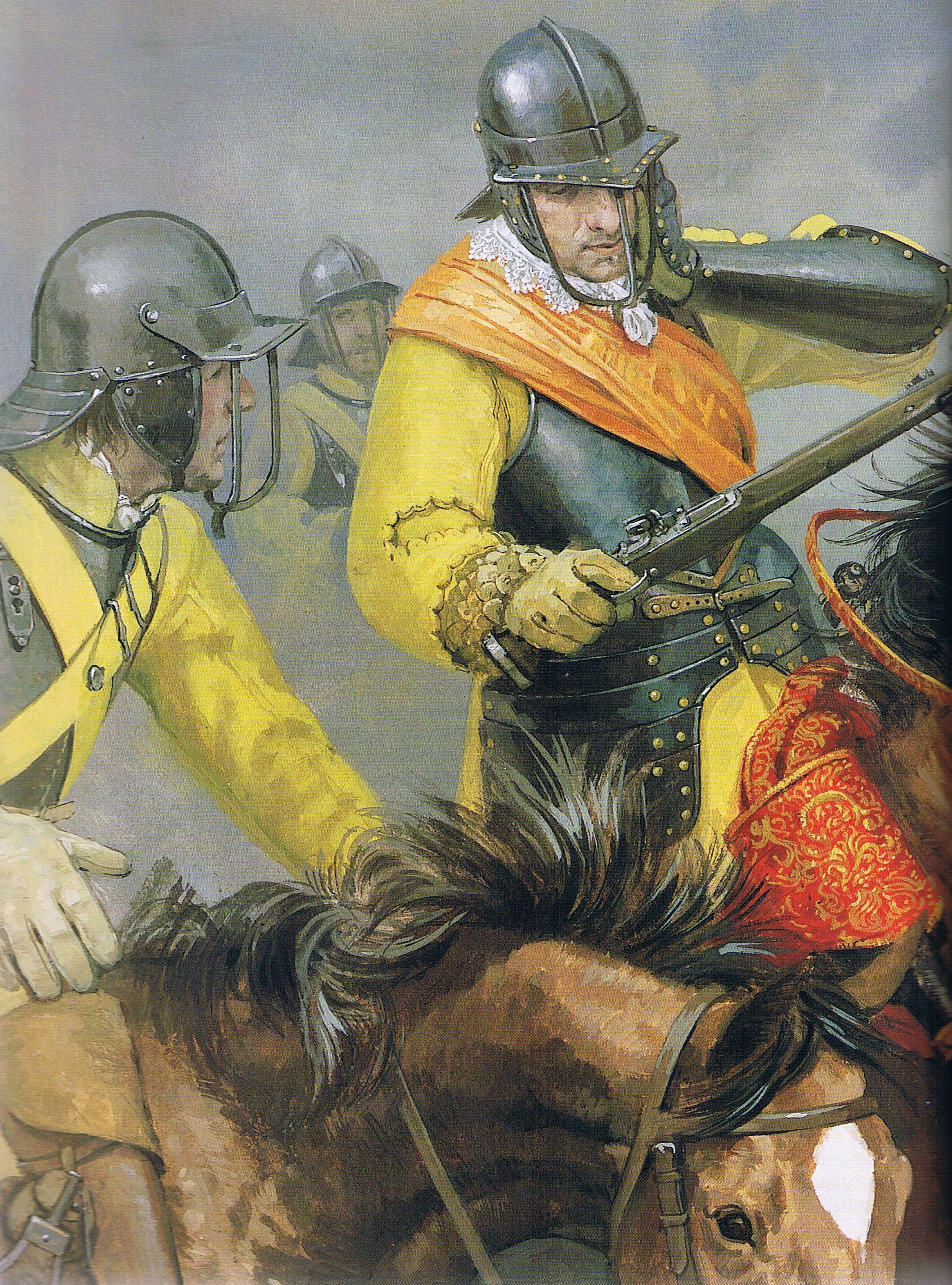 Parliamentary Cavalry In Battle