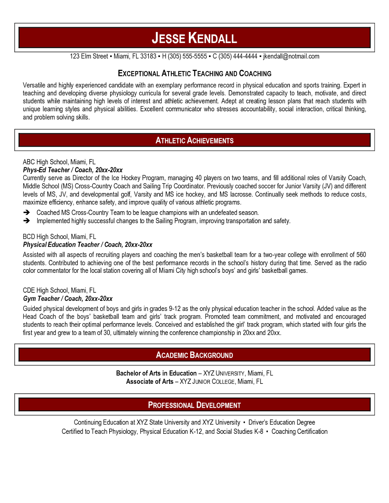 Education Resume Template | Resume Templates | Pinterest | Sample ...