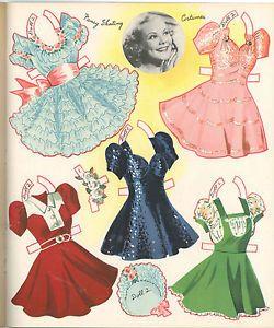 VINTAGE 1958 NATALIE WOOD PAPER DOLLS ~PRETTY LASER REPRODUCTION~ORIG SIZE UNCUT
