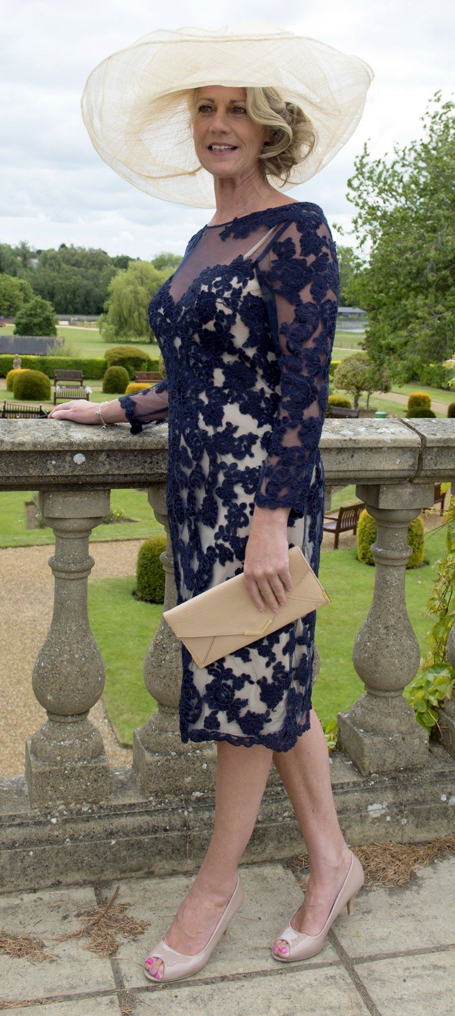 1dff7550818e7 Navy/Nude overlay - Mother of the Bride Dress! Beautiful - available at  www.frocks.co.uk