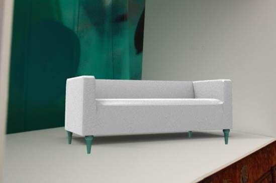 Our Furniture Leg Merle On An Ikea Klippan Sofa How Sweet