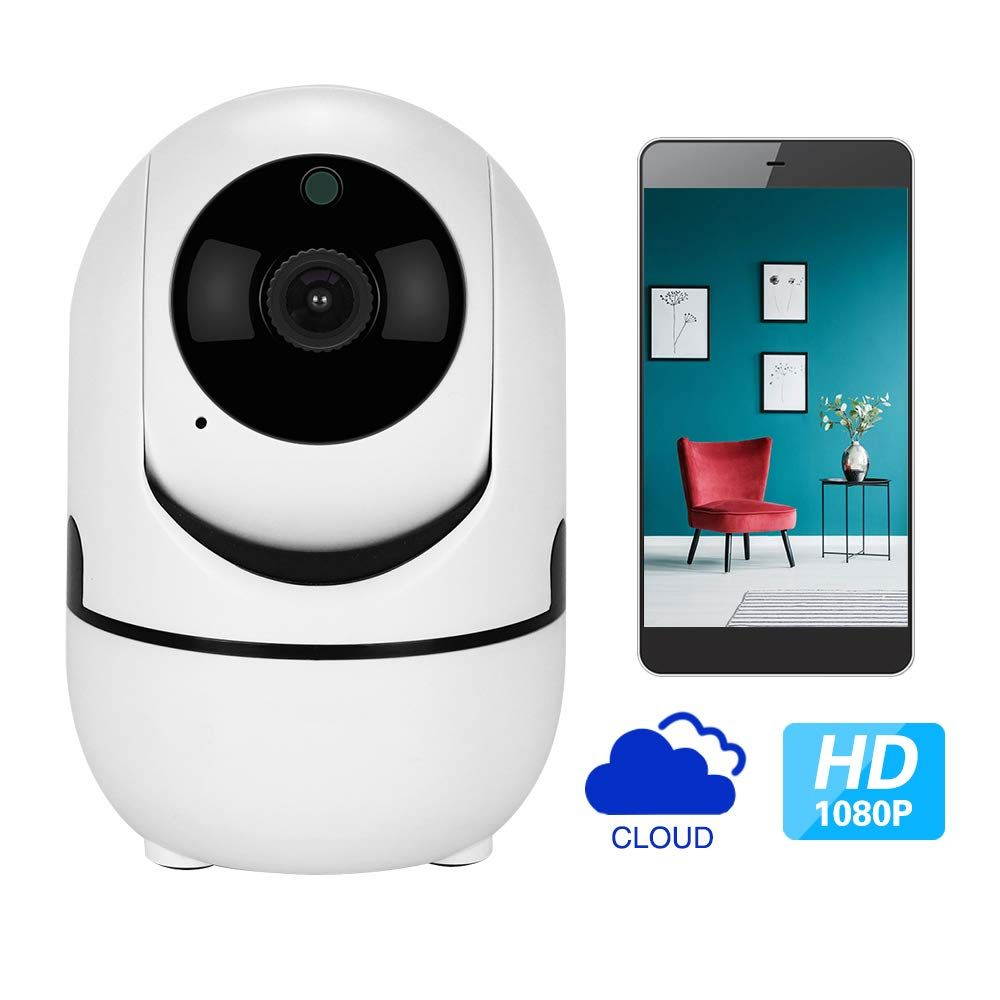 1080p Hd Ip Camera With Motion Tracker 2way Audio Night Vision App Remote Control 2 4ghz Wifi Indoor Home Security Dome Cam App Remote Smart Camera Dome Camera