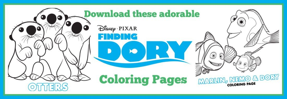 Finding Dory Coloring Sheets Marlin nemo and Craft - new pixar coloring pages finding nemo