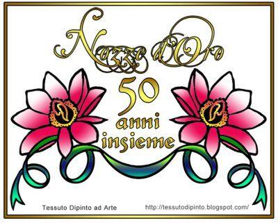 Anniversario Di Matrimonio 50 Anni Con Fiori Di Loto Dipinti Auguri Di Buon Anniversario Di Matrimonio Anniversario Di Matrimonio Anniversario