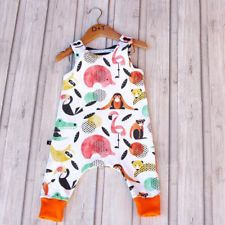 0da09c664acd US Kids Baby Boy Girl Animal Romper Bodysuit Jumpsuit Sunsuit Cotton Clothes  Set