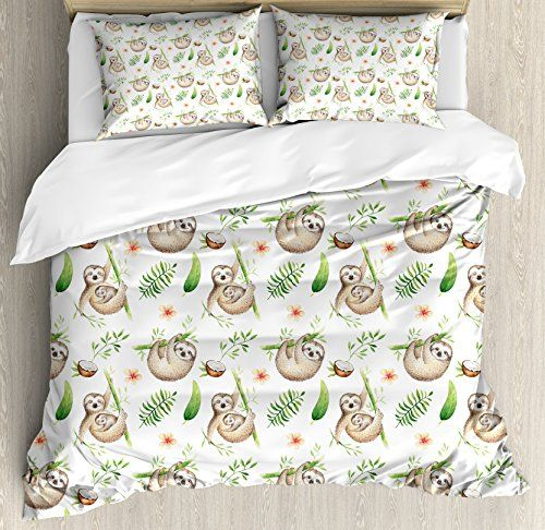 Sloth King Size Duvet Cover Set by