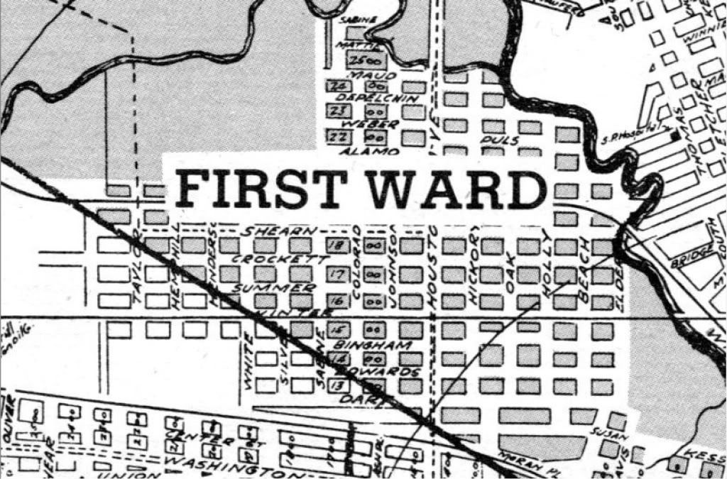 First Ward map from 1895 | First Ward Houston | Pinterest