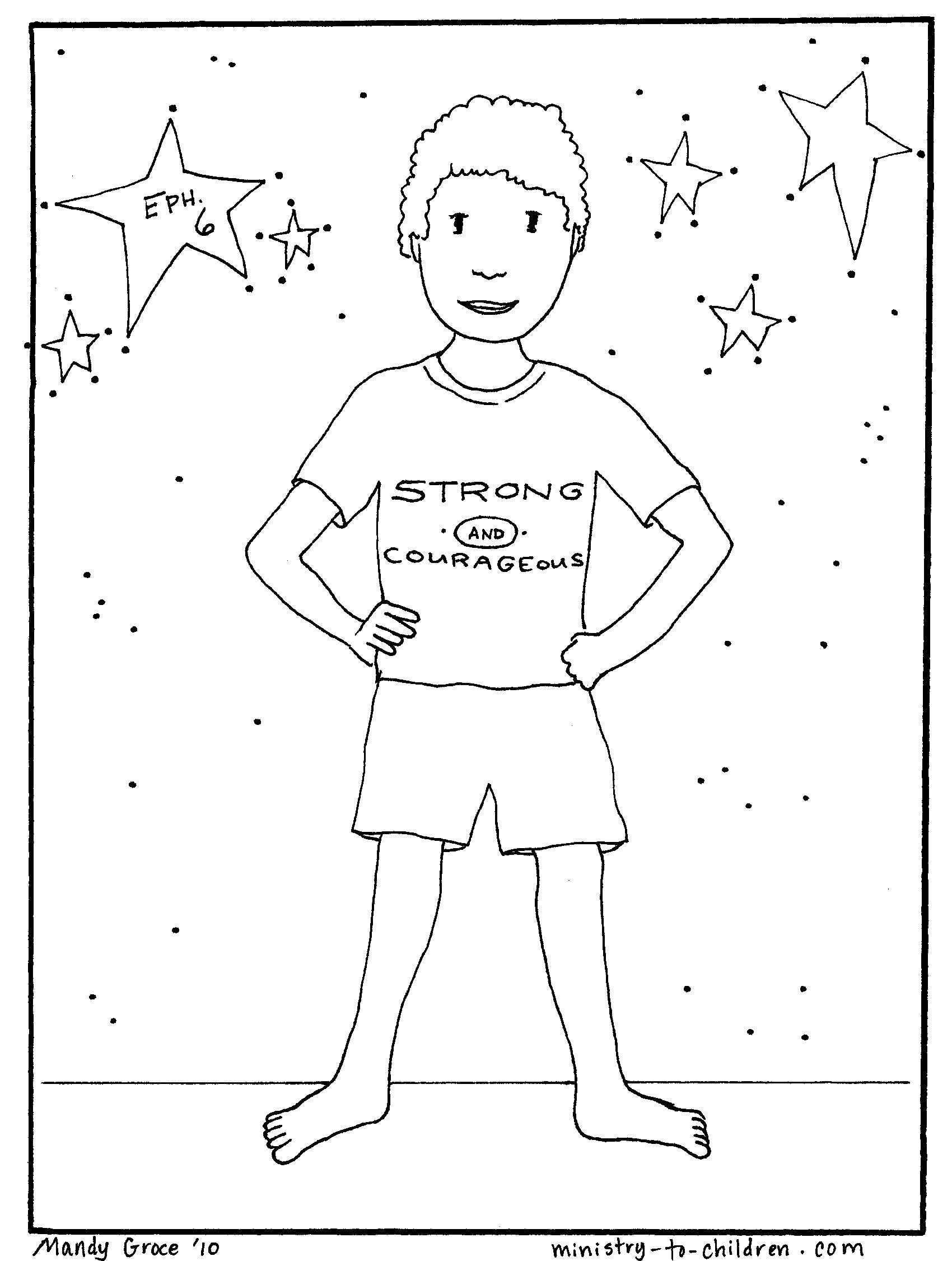 Interesting Armour God Coloring Page Sunday School