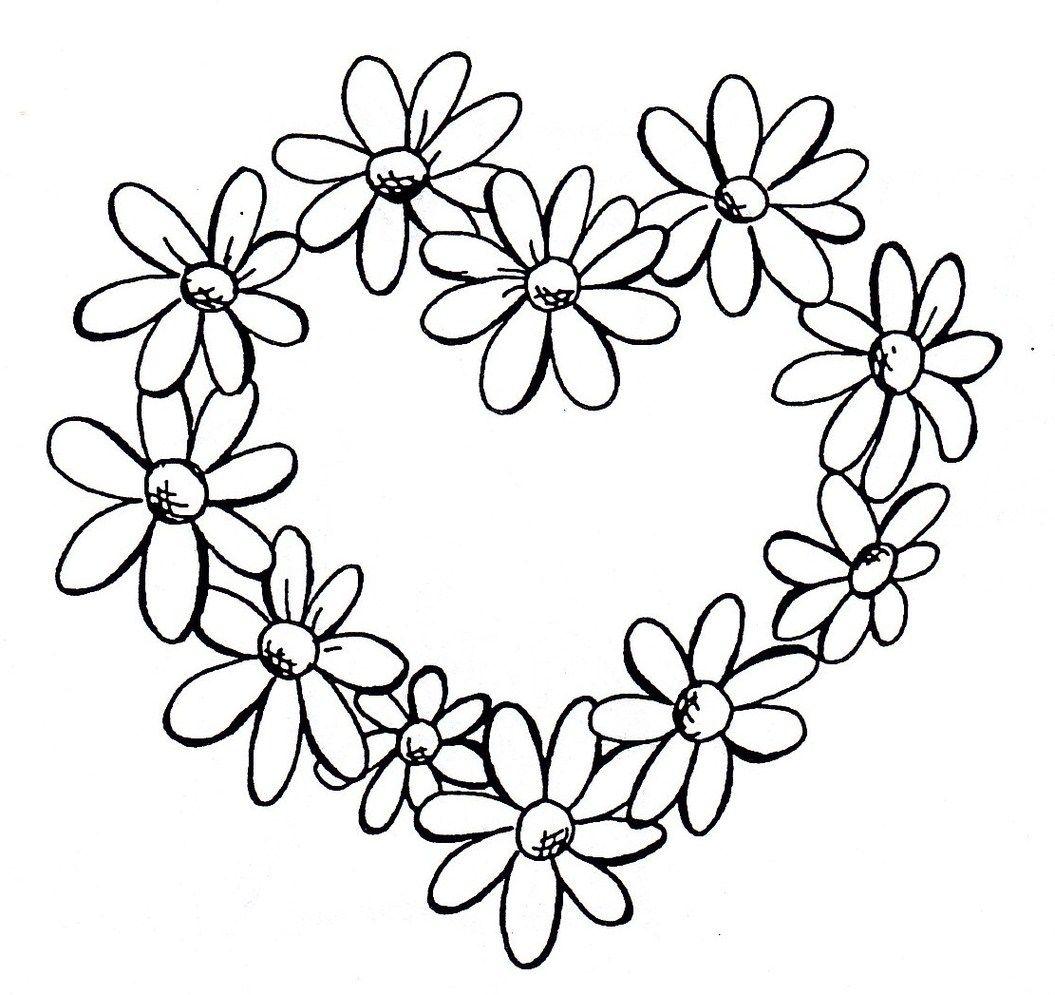 Daisy heart border (With images) Daisy tattoo designs