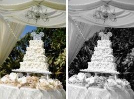 Aulani wedding cake from Weddings and Honeymoons Ever After Blog