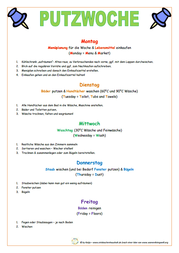Frühjahrsputz Checkliste putzplan putzwoche pdf das erscheint mir easy ich hatte irgendwie