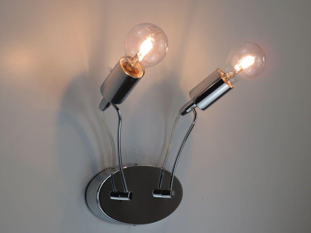 Lampada da parete applique moderno cromato illuminazione per bagno