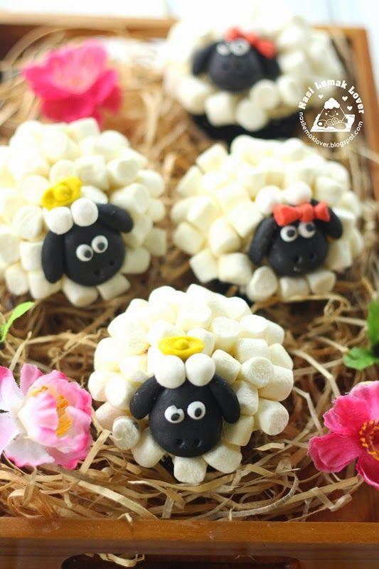 Nasi Lemak Lover: Sheep Cupcakes 绵羊纸杯蛋糕~喜气羊羊 2015