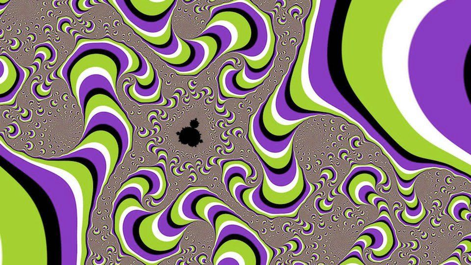 I always think I'm having a stroke when I see these pictures. Look all around (Hint- it's not really moving)