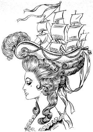 Frisure La Belle Poule Drawing In 2019 Barock Tattoo