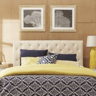 Sophie Tufted Full-sized Upholstered Headboard by TRIBECCA HOME - Free Shipping Today - Overstock.com - 17298691 - Mobile