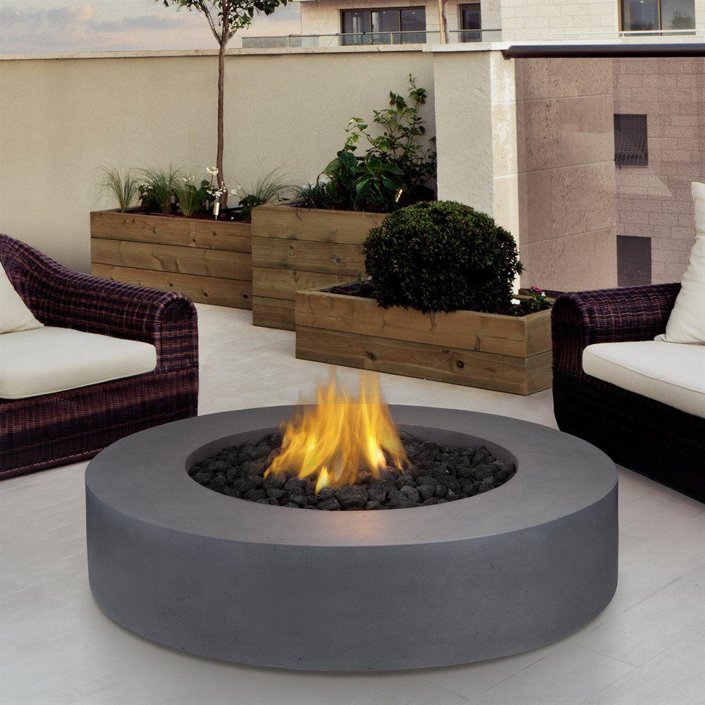 Shop Real Flame 9660lp Fg Flint Gray Mezzo Round Propane Fire Pit