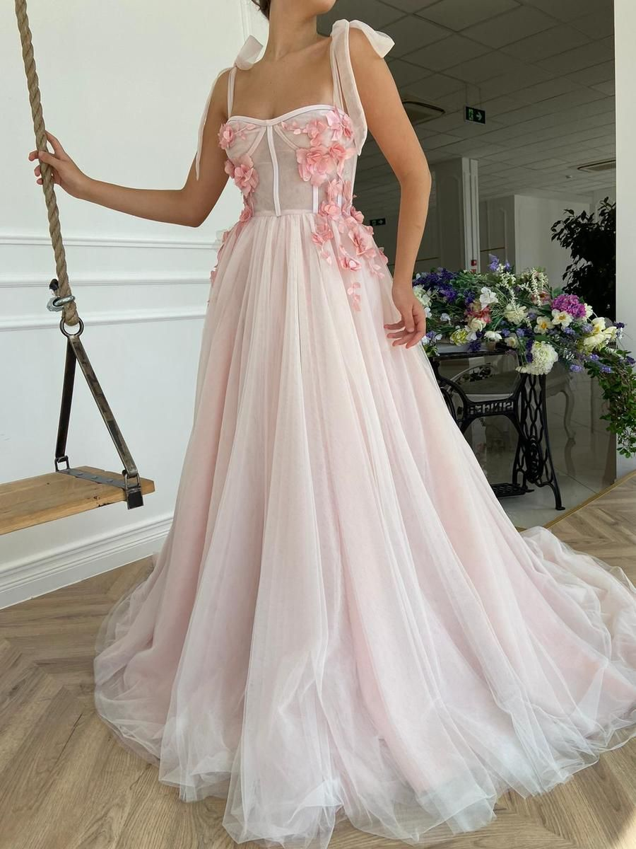 Rose Reverie Gown Details:-Baby pink color-Tulle a