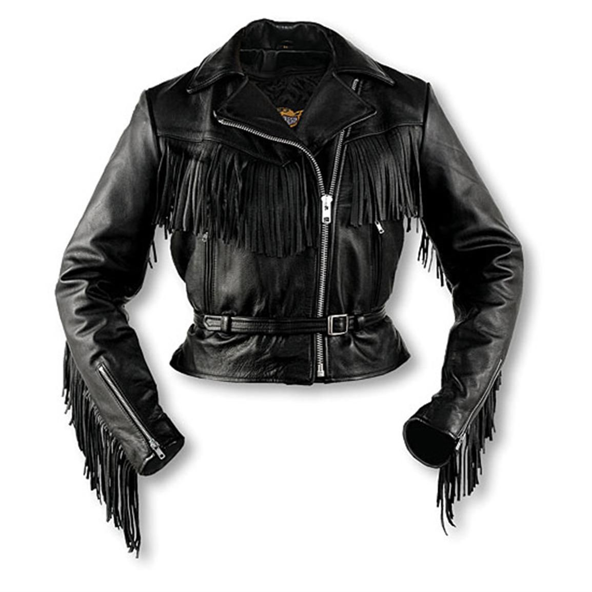 Leather Biker Jackets For Women With Fringe Interstate Leather Fringe Jacket 469803 Leather Jackets At Fringe Leather Jacket Jackets Leather Jacket Style [ 1154 x 1154 Pixel ]