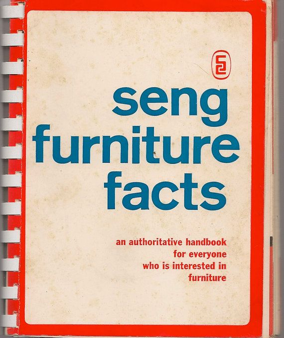 VINTAGE BOOK Seng Furniture Facts an Authoritative by HazelCatkins, $15.00