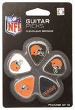 Woodrow - Cleveland Browns Plastic Guitar Picks (10-Pack) - Brown/Orange/White