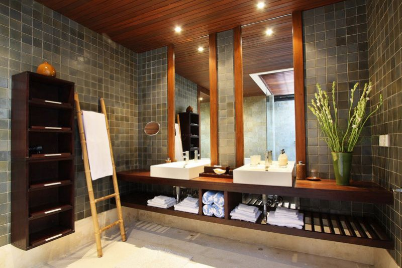 Balinese Bathroom Designs   Google Search, Light Tile With Teak Wood Would  Be Nice.